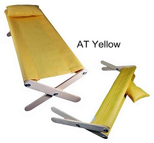 Folding Cot and Pillow (Yellow)