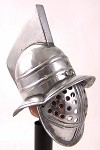 Helmet: Myrmillo Gladiator - Silver Finish