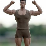 Muscle Tee & Shorts Set <br>(Olive 1:12 Scale)