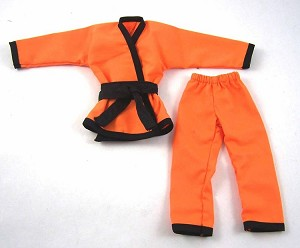 Karate Outfit Set (Orange/Black)