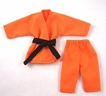 Short Sleeve/Leg Karate Outfit Set (Orange)