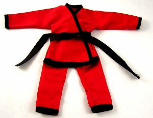 Karate Outfit Set (Red/Black)