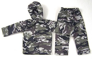 Hooded Jacket and Overpants Set (Winter/Gray Camo)