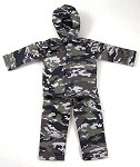 Hooded Jacket and Overpants Set (Urban Camo)