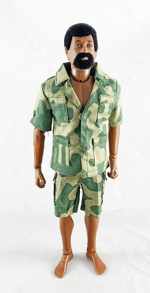 Safari Short-Sleeve Shirt & Cargo Shorts Set (Amoeba Green)