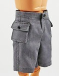 Shorts: Cargo Pockets (Gray Cotton)