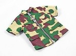 Short Sleeve Shirt with Zipper - Para Camo
