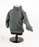 Vintage Style Turtleneck Sweater (Gray)