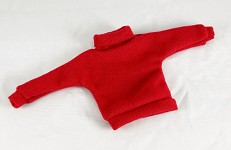 Vintage Style Turtleneck Sweater (Red)