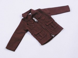 Commando-Style Jacket - Brown