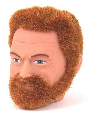 Head - Carl Red Fuzzy<BR> with Beard