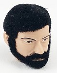 Head - George Fuzzy Black Hair w/Beard