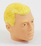 Head - Jake Blonde Painted<BR> (2 Tone Hair – Blonde Eyebrows)