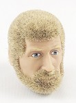 Head - Nick Blonde Fuzzy Hair w/Beard