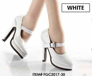 Platform High Heel Shoes (White)