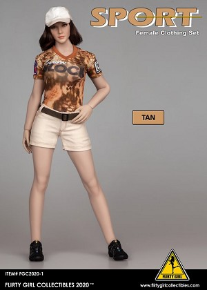 Female Clothing Set (Shorts / Tan)