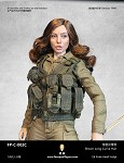 Nora Female  Head Sculpt (Bunette Long/Curly) <BR>PRE-ORDER: ETA  Q3 2020
