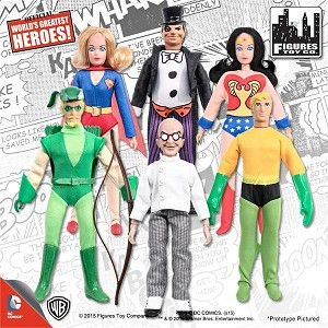 Retro DC Comics <BR>Action Figures Set (1:9)<BR> (Kresge Style, Series 2)<Br>6 Figure Set