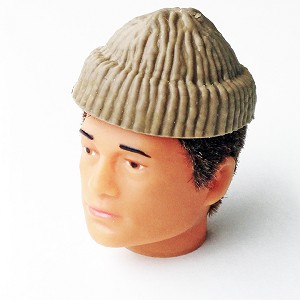 Molded Knit Cap, Tan (Atomic Man Style)