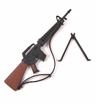 M-16 Rifle with Bipod (Black/Brown)
