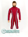 Super Bodysuit (Maroon w/Blue Trim)