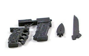 Tactical Grip with Block Attachment, Knife and Dagger Attachments<BR>