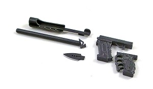 Tactical Grip with Block Attachment, Baton and Dagger Attachments<BR>