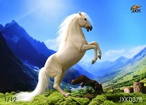 White Horse & Saddle Set (1:12 Scale)<BR>PRE-ORDER: ETA Q4 2020