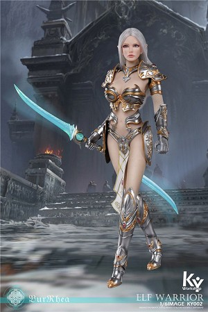 Elf Female Soldier Burryna (Silver Outfit)