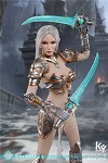 Elf Female Soldier Burryna (Silver Outfit)<BR>PRE-ORDER: ETA Q4 2019<BR>WAIT LIST