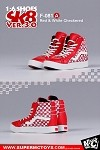 Sk8 Shoes (Red Checkered)