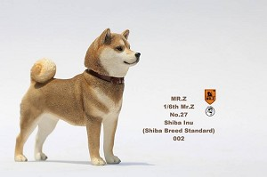 Shiba Inu Dog (Brown) with Two Head Sculpts