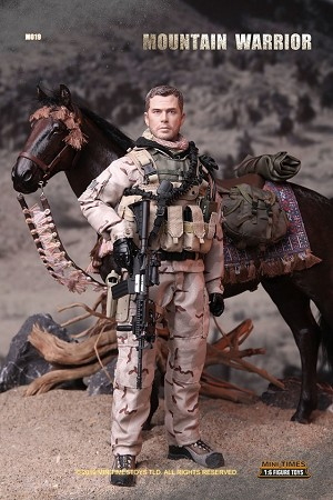 Mountain Warrior (with Saddle and Harness) Figure Set<BR>PRE-ORDER: ETA Q1 2020