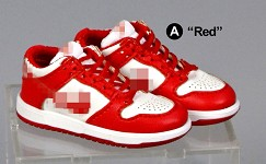 Dunk Low Sneakers (Red/White)<BR>PRE-ORDER: ETA Q2 2021