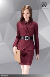 Office Lady Skirt Suit Set (Red/Maroon)<BR>PRE-ORDER: ETA Q1 2020