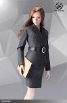 Office Lady Skirt Suit Set (Gray)<BR>PRE-ORDER: ETA Q1 2020