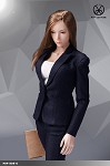 Office Lady Pants Suit Set (Blue)<BR>PRE-ORDER: ETA Q1 2020