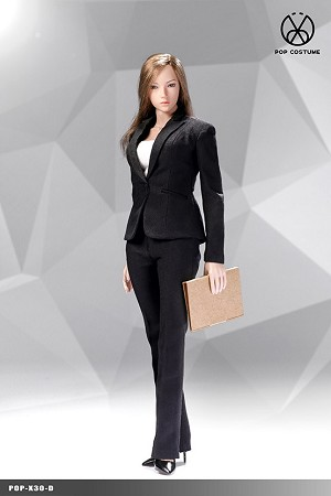 Office Lady Pants Suit Set (Black)<BR>PRE-ORDER: ETA Q1 2020