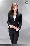 Office Lady Pants Suit Set (Black)