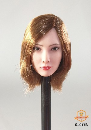 Nadia Female Head Sculpt (Auburn)<BR>