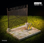 Barbed Wire Fence Diorama (1:12 Scale)<BR>
