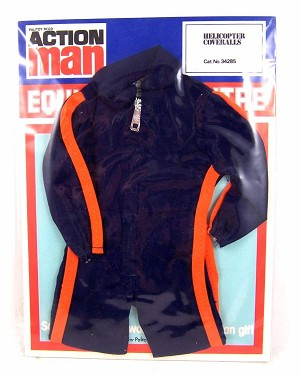 Vintage Action Man Helicopter Coveralls-Blue MOC (34285)