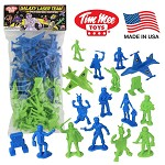 Galaxy Laser Team Space Figures (Green/Blue)
