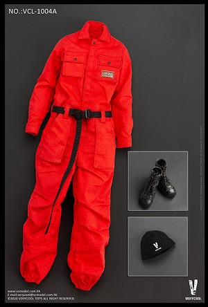 Female Work Wear Set (Tangerine)<BR>PRE-ORDER: ETA Q4 2020