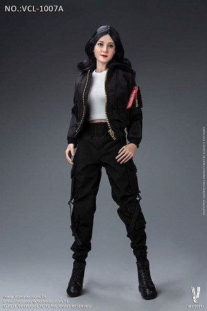 Trendy Jacket Female Outfit Set (Black)<BR>PRE-ORDER: ETA Q2 2021