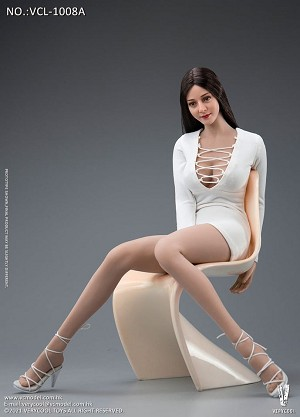 Fashion Dress Outfit Set (White)<BR>PRE-ORDER: ETA Q2 2021