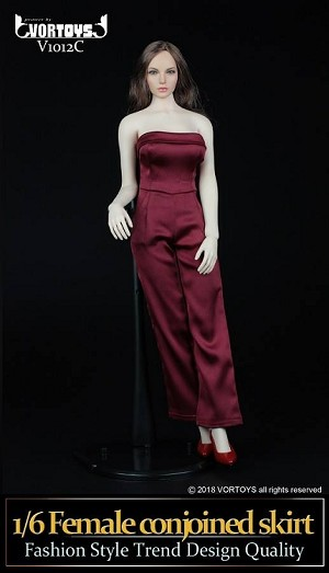 One Piece Pantsuit Set (Red)