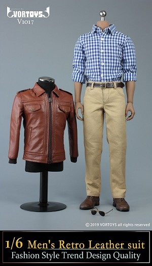 Men's Leather Jacket Outfit Set<BR>PRE-ORDER: ETA Q1 2020