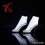 Studded High Heel Boots - White