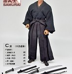 Black Warrior Samurai Outfit Set<BR>PRE-ORDER: ETA Q4 2019